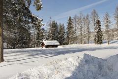 Μια καλύβα στην επαρχία Στοκ εικόνες με δικαίωμα ελεύθερης χρήσης