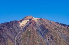 Μια κινηματογράφηση σε πρώτο πλάνο της κορυφής βουνών Teide Στοκ Φωτογραφία