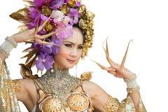 Μια κομψή βόρεια Ταϊλάνδη ChiangMai γυναικών Lanna Στοκ Φωτογραφίες