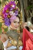 Μια κομψή βόρεια Ταϊλάνδη ChiangMai γυναικών Lanna Στοκ Φωτογραφία