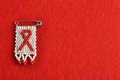 Μια κορδέλλα του AIDS Στοκ φωτογραφίες με δικαίωμα ελεύθερης χρήσης