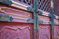 Μια κόκκινη πόρτα στην απαγορευμένη πόλη, Κίνα Στοκ εικόνες με δικαίωμα ελεύθερης χρήσης