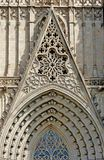 Μια λεπτομέρεια στο μέτωπο του καθεδρικού ναού στη Βαρκελώνη στοκ φωτογραφία