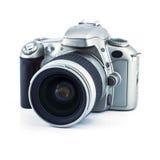 Μια μαύρη κάμερα ταινιών Στοκ Εικόνες