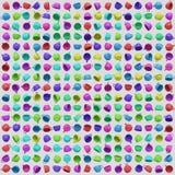 Μια μεγάλη διαταγμένη σειρά Vibrantly χρωματισμένων φλυτζανιών καφέ διανυσματική απεικόνιση