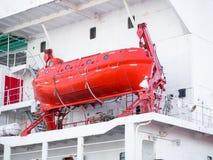 Βάρκα ζωής σε ένα σκάφος Στοκ Φωτογραφία