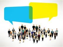 Μια μεγάλη ομάδα ανθρώπων συλλέγει το σχέδιο Στοκ Εικόνα
