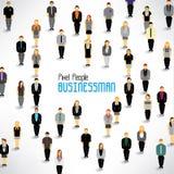 Μια μεγάλη ομάδα επιχειρηματιών συλλέγει το σχέδιο Στοκ εικόνα με δικαίωμα ελεύθερης χρήσης