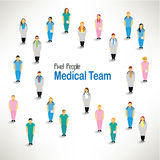 Μια μεγάλη ομάδα ιατρικής ομάδας συλλέγει το σχέδιο Στοκ φωτογραφίες με δικαίωμα ελεύθερης χρήσης