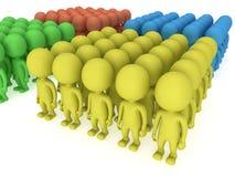 Μια μεγάλη στάση ομάδων ανθρώπων στο λευκό διανυσματική απεικόνιση