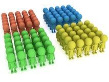 Μια μεγάλη στάση ομάδων ανθρώπων στο λευκό απεικόνιση αποθεμάτων