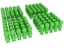 Μια μεγάλη στάση ομάδων ανθρώπων στο λευκό ελεύθερη απεικόνιση δικαιώματος