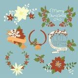 Μια μεγάλη συλλογή των στοιχείων Χριστουγέννων: Στοκ Εικόνες