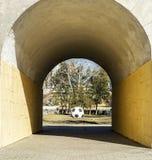 Μια μεγάλη σφαίρα ποδοσφαίρου Στοκ Φωτογραφίες