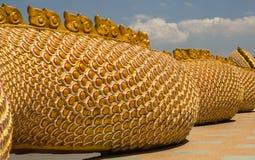 Μια μεγάλη φύλαξη φιδιών Naga Στοκ Εικόνα