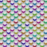 Μια μεγάλη Isometric σειρά κρητιδογραφίας χρωμάτισε τα κεραμικά φλυτζάνια καφέ απεικόνιση αποθεμάτων