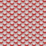 Μια μεγάλη Isometric σειρά κόκκινων και άσπρων κεραμικών φλυτζανιών καφέ Στοκ Φωτογραφία
