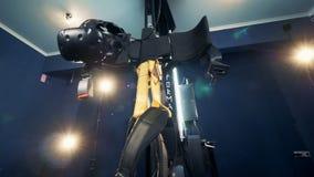 Μια μηχανή για το τυχερό παιχνίδι VR, κλείνει επάνω απόθεμα βίντεο