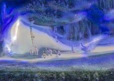Μια μη ρεαλιστική άποψη της φαντασίας palanet ένας άλλος κόσμος Στοκ Εικόνες