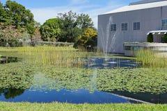 Μια μικρή λίμνη στο ringling μουσείο τσίρκων στο sarasota, Φλώριδα Στοκ Φωτογραφίες