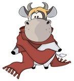 Μια μικρή αγελάδα cartoon διανυσματική απεικόνιση