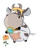 Μια μικρή αγελάδα cartoon απεικόνιση αποθεμάτων