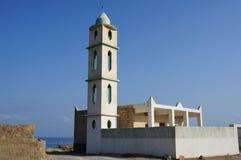 Μια μικρή ατελής εκκλησία στην ακτή κοντά σε Hadibo σε Socotra είναι στοκ εικόνα με δικαίωμα ελεύθερης χρήσης