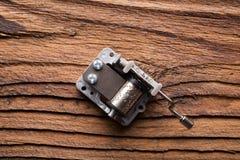 Κωδωνοστοιχία (κιβώτιο μουσικής) στο ξύλο Στοκ φωτογραφίες με δικαίωμα ελεύθερης χρήσης