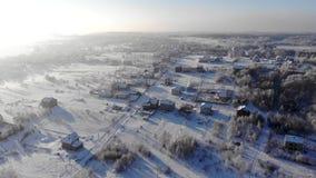 Μια μικρή πόλη του χειμερινού βασίλειου απόθεμα βίντεο