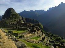 Μια μοναδική και ενδιαφέρουσα άποψη της αρχαίας περιοχής Inca Machu στοκ φωτογραφία με δικαίωμα ελεύθερης χρήσης