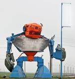 Μια μοναδική κατασκευή από τις λεπτομέρειες oin η μορφή ενός ρομπότ στοκ φωτογραφίες