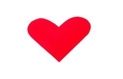 Μια μορφή καρδιών από το κόκκινο έγγραφο Στοκ φωτογραφία με δικαίωμα ελεύθερης χρήσης