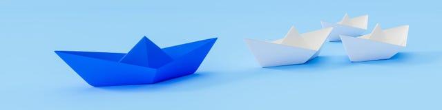 Μια μπλε βάρκα και κάποιο λευκό Στοκ Εικόνα