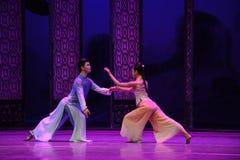 Μια μυστική συνεδρίαση της εραστής-δεύτερης πράξης των γεγονότων δράμα-Shawan χορού του παρελθόντος στοκ φωτογραφία με δικαίωμα ελεύθερης χρήσης