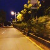 Μια μόνη ακόμα κινούμενη οδική άποψη στοκ φωτογραφία με δικαίωμα ελεύθερης χρήσης