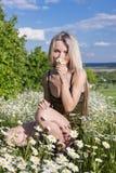 Μια νέα γυναίκα Στοκ φωτογραφία με δικαίωμα ελεύθερης χρήσης