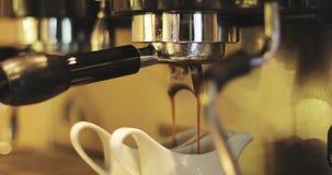 Μια νέα μηχανή καφέ απόθεμα βίντεο