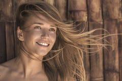 Μια νεολαία, πορτρέτο αθώου ξανθού Στοκ φωτογραφίες με δικαίωμα ελεύθερης χρήσης