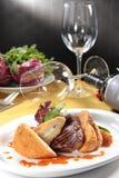 Μια νόστιμη φωτογραφία κουζίνας της μπριζόλας βόειου κρέατος Στοκ εικόνα με δικαίωμα ελεύθερης χρήσης