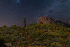 Μια νύχτα στην έρημο της Αριζόνα στοκ εικόνα με δικαίωμα ελεύθερης χρήσης