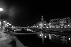 Μια νύχτα στην Πίζα, Τοσκάνη, Ιταλία, Ευρώπη Στοκ φωτογραφία με δικαίωμα ελεύθερης χρήσης