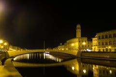 Μια νύχτα στην Πίζα, Τοσκάνη, Ιταλία, Ευρώπη Στοκ φωτογραφίες με δικαίωμα ελεύθερης χρήσης