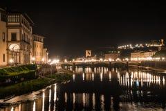 Μια νύχτα στη Φλωρεντία, Τοσκάνη, Ιταλία, Ευρώπη Στοκ εικόνες με δικαίωμα ελεύθερης χρήσης