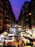 Μια νύχτα στο Χονγκ Κονγκ Στοκ Εικόνες