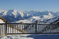 Μια ξύλινη περίφραξη βουνών στοκ φωτογραφίες με δικαίωμα ελεύθερης χρήσης