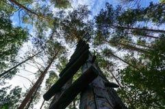 Μια ξύλινη σκάλα στον ουρανό Στοκ εικόνες με δικαίωμα ελεύθερης χρήσης