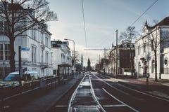Μια οδός στη Χάγη στοκ φωτογραφία με δικαίωμα ελεύθερης χρήσης
