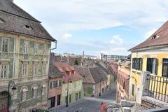 Μια οδός στο Sibiu στοκ εικόνα με δικαίωμα ελεύθερης χρήσης
