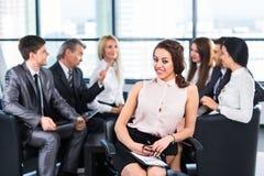 Μια ομάδα επιχειρηματιών Στοκ Εικόνες
