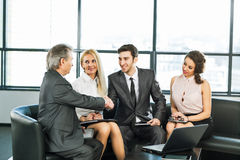 Μια ομάδα επιχειρηματιών Στοκ Εικόνα